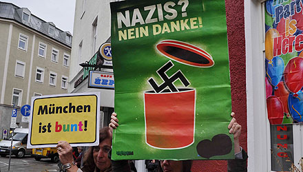 Buntes München gegen Nazi-Demo (Foto: Johannes Hartl)