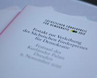 Der Sächsische Förderpreis für Demokratie 2012 (Programmhefte)