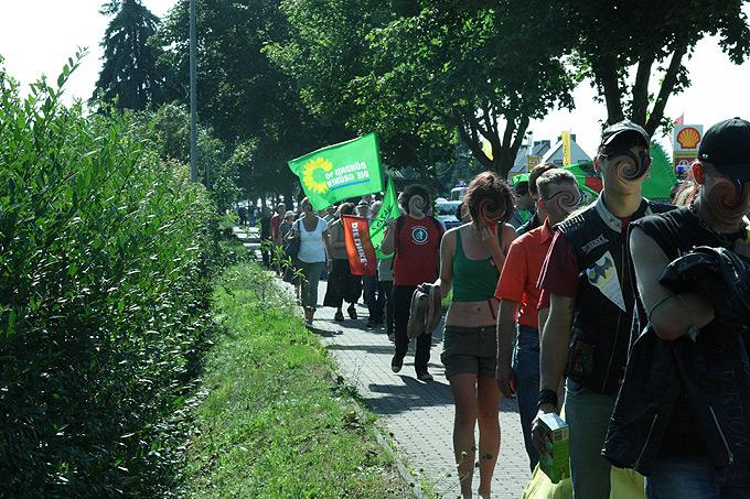 Demonstrationen gegen das Nazi-Festival (Foto: Stefan Vogt)