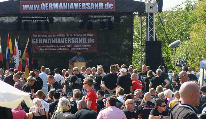 """Fest der Nationalen"" am 9. August in Berga / (c) Miteinander e.V./s.he."