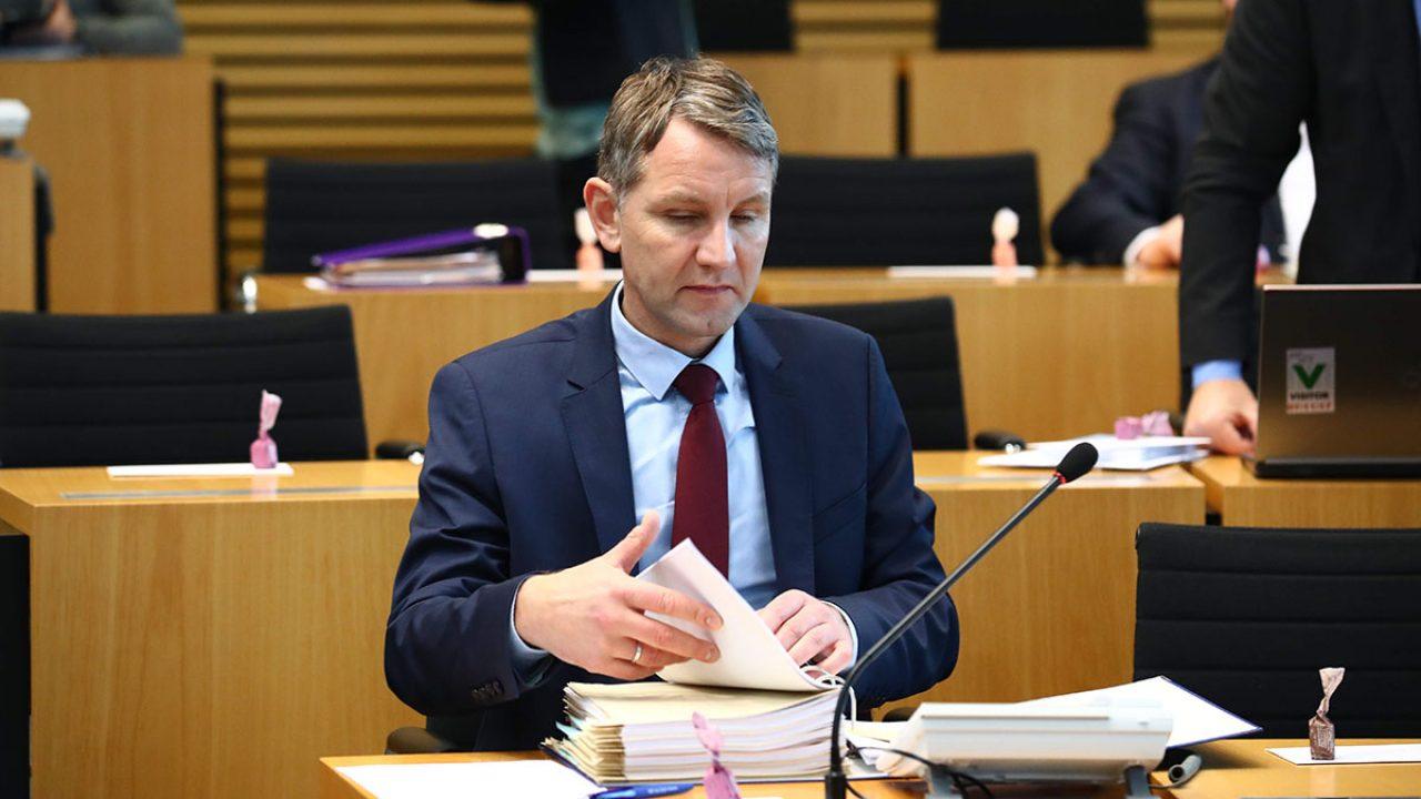 Höcke im Landtag Erfurt AfD