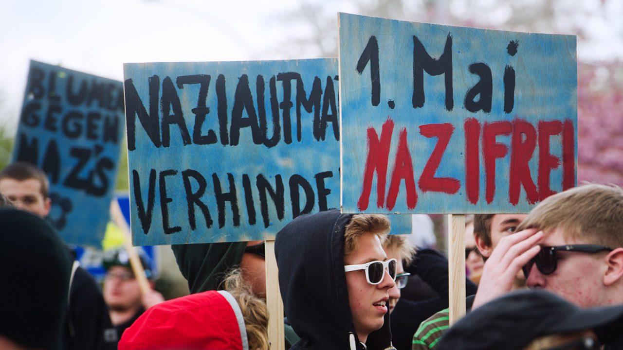 Protest gegen NPD-Aufmarsch