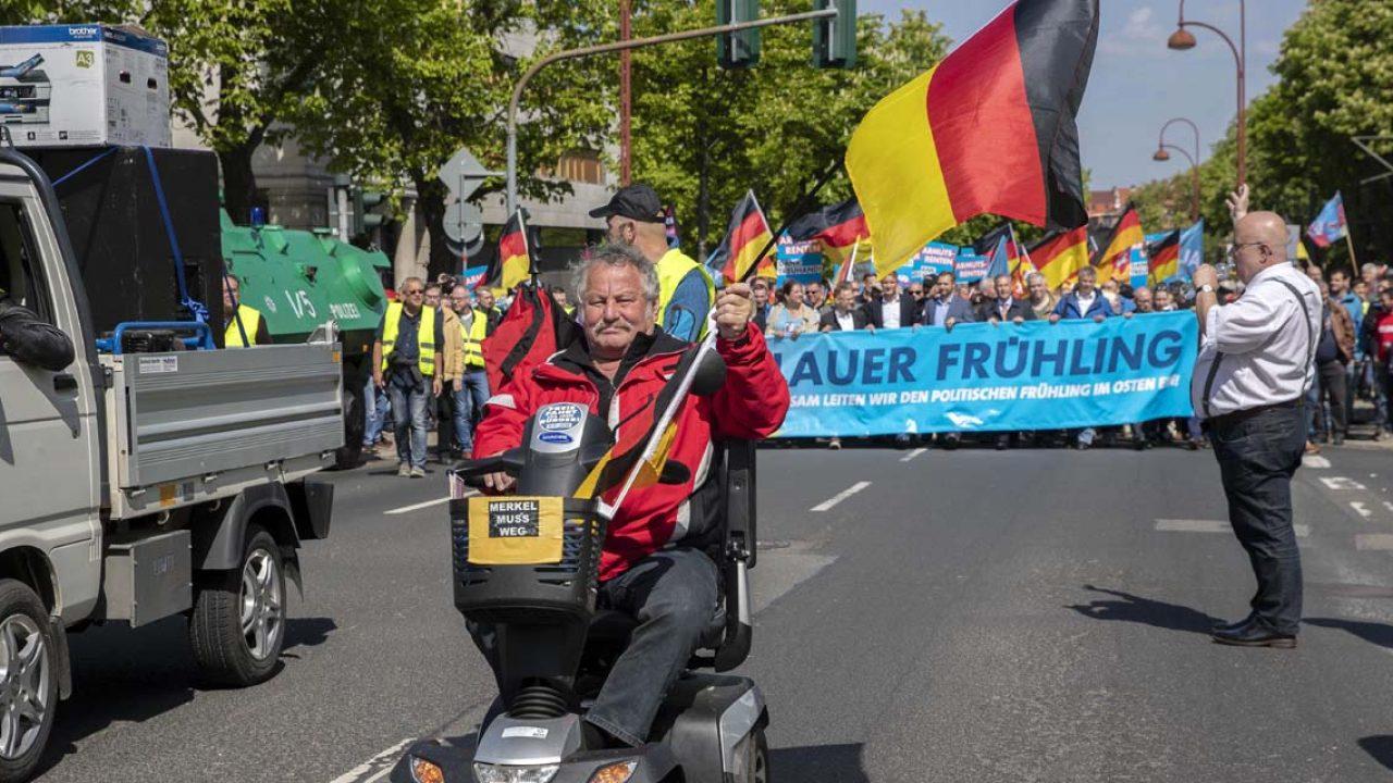AfD Demo und Gegendemo in Erfurt
