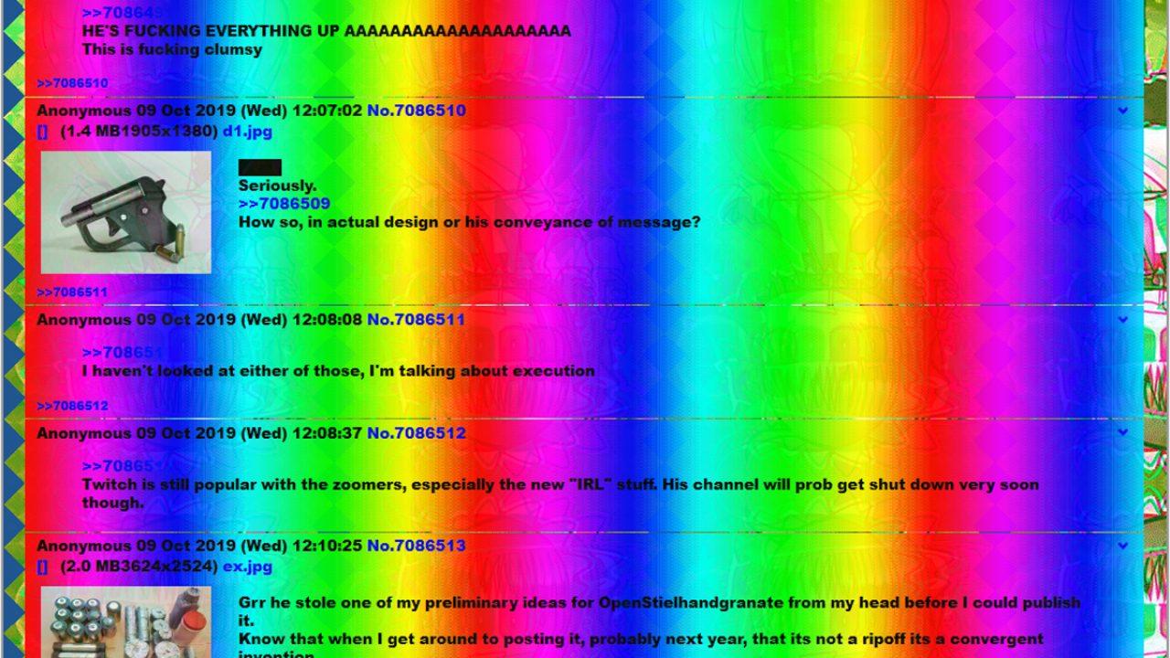 """Screenshot des """"Meguca""""-Boards, auf dem der Attentäter von Halle seinen Livestream postete"""