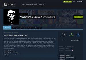 """Steam-Profil der """"Atomwaffen Division"""""""