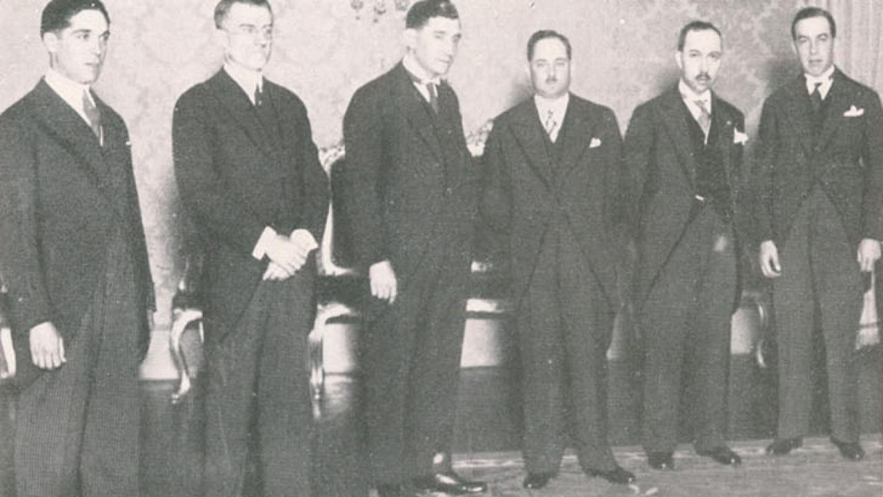 O_governo_de_Salazar_presta_o_Compromisso_de_Honra_perante_o_Presidente_Carmona_no_Palácio_de_Belém_(5_de_Julho_de_1932)