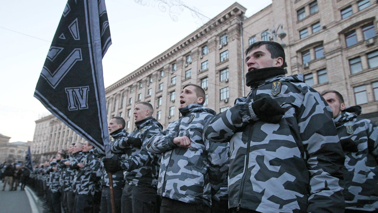 March of the National Squads in Kiev