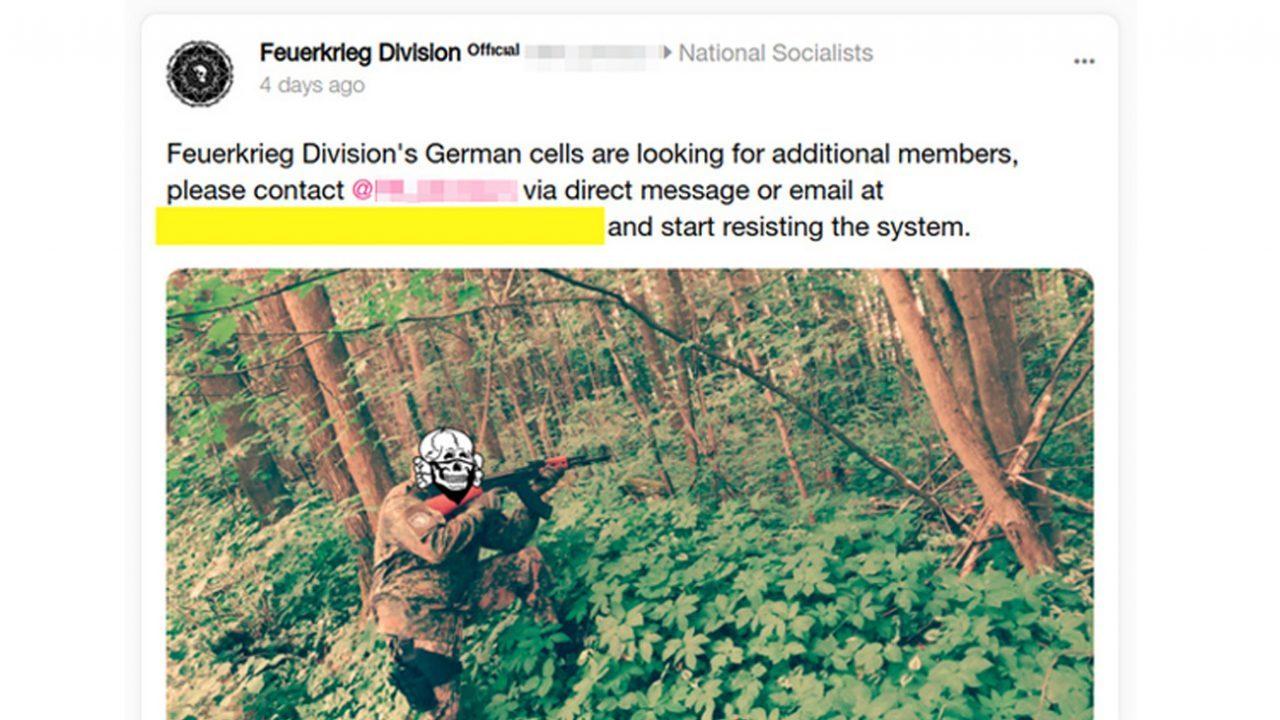 Screenshot from Feuerkrieg Division's Gab.ai account.