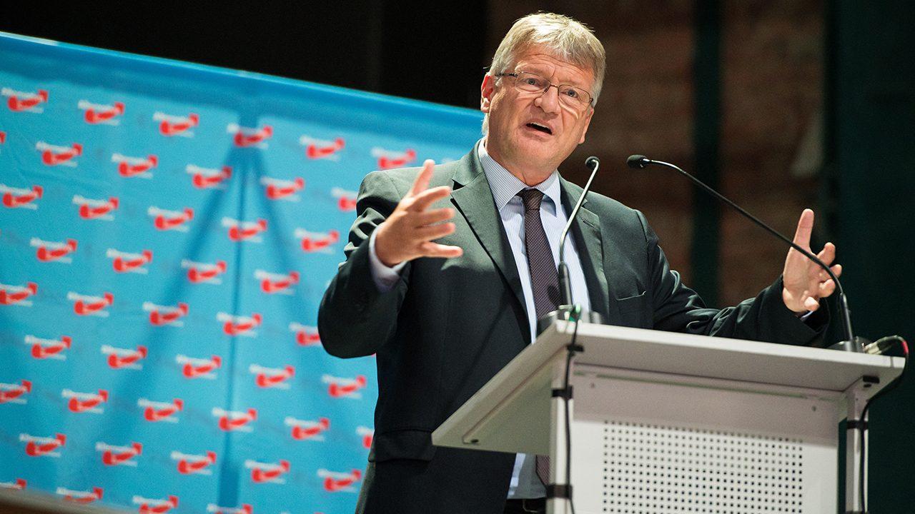 Jörg Meuthen, Bundesvorsitzender der AfD, beim Landesparteitag in Saarland.