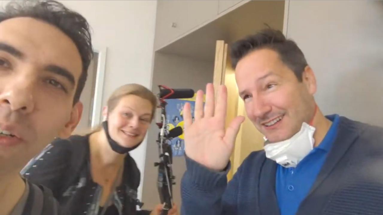 """Rechts: Thorsten """"Silberjunge"""" Schulte. Auch rechts: Daniela Scheible und Elijah Tee aka Ilia Tabere."""