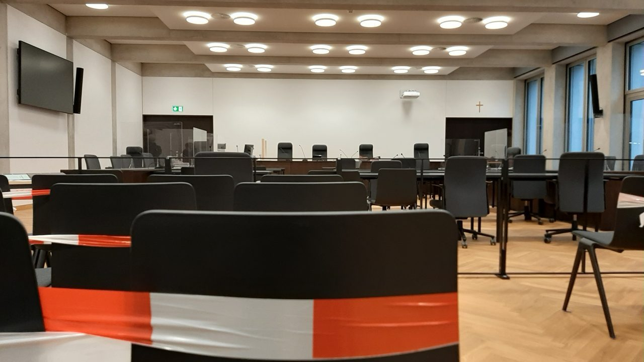 The courtroom at the Nürnberg-Fürth Regional Court where Fabian D. is on trial.