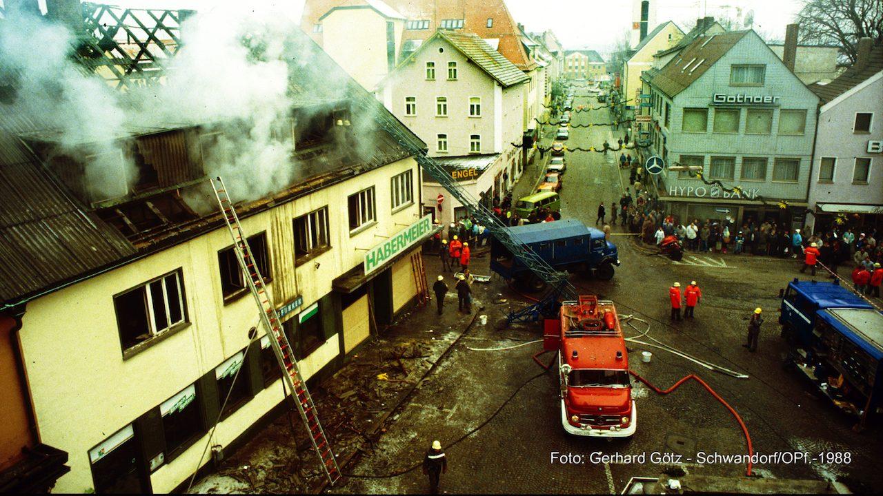Brand - Habermeierhaus am 17.12.1988