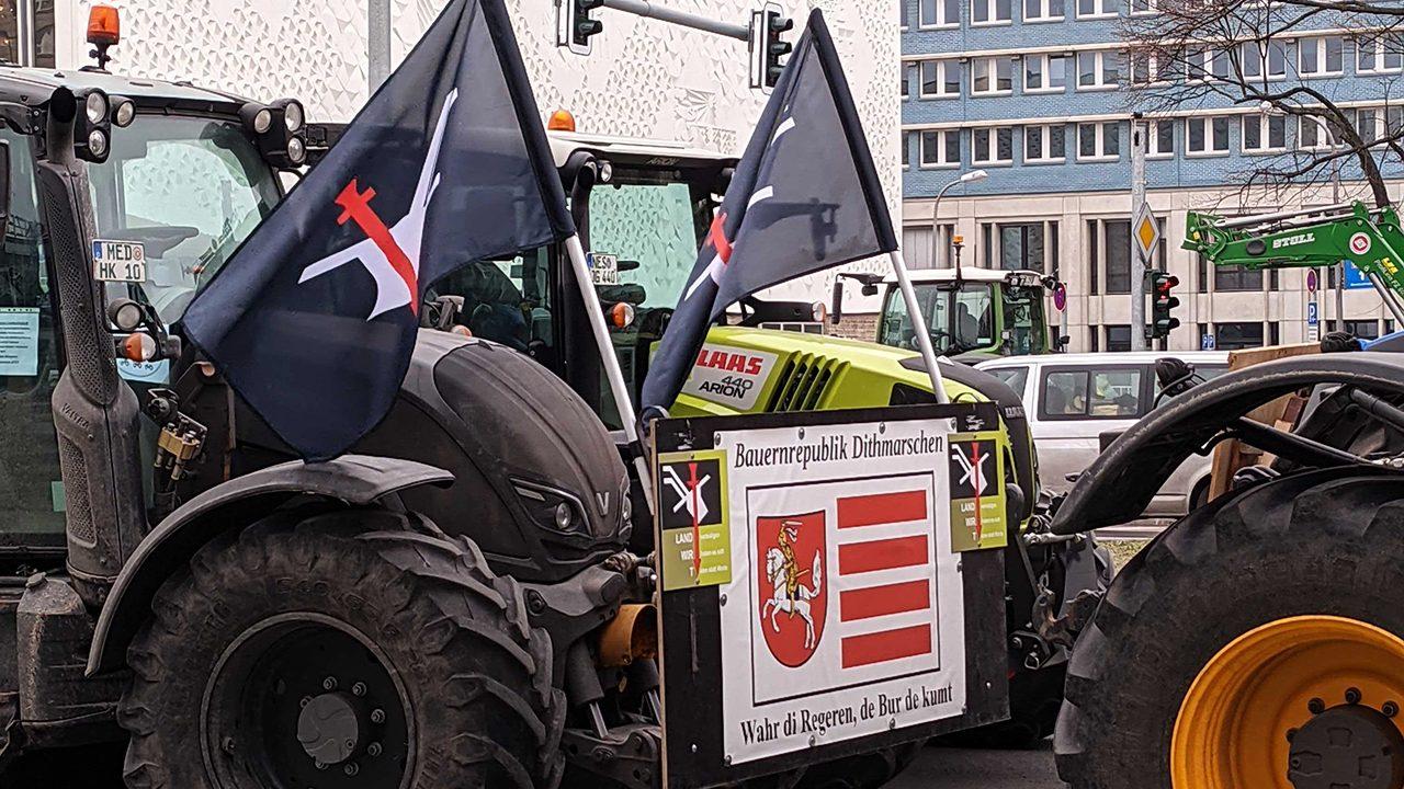 Bauer sucht Frau Merkel: Protest der Landwirt*innen in Berlin im Februar 2021