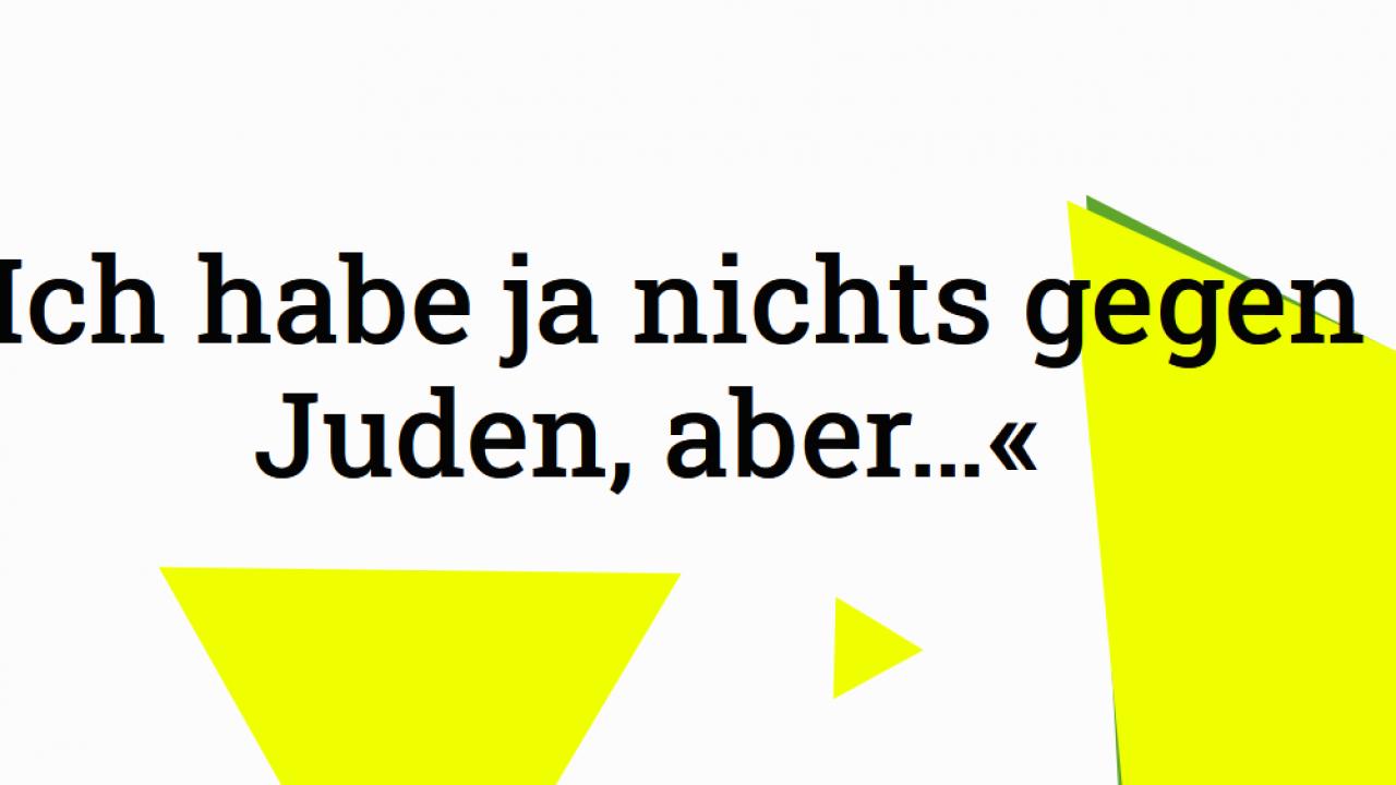 2021-05-14 11_13_09-»Nichts gegen Juden.« – campaign against hate speech, antisemitism