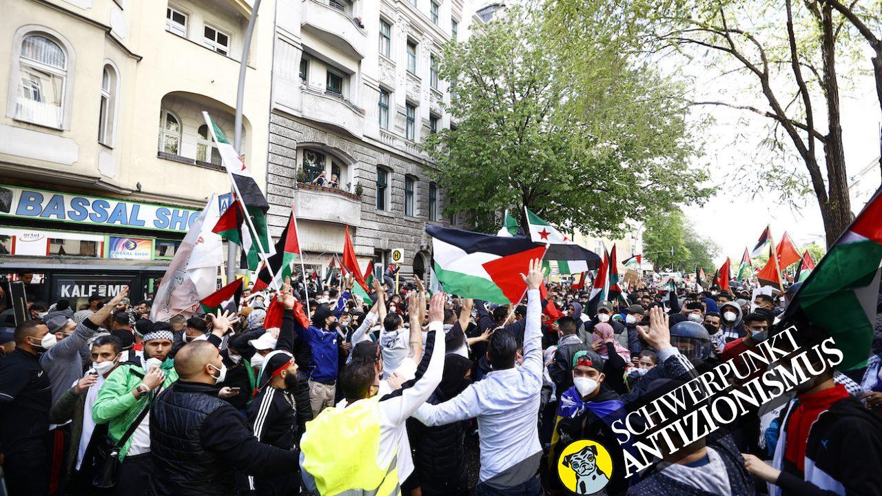 Am 15. Mai läuft über die Berliner Sonnenallee eine pro-palästinensische Demonstration.