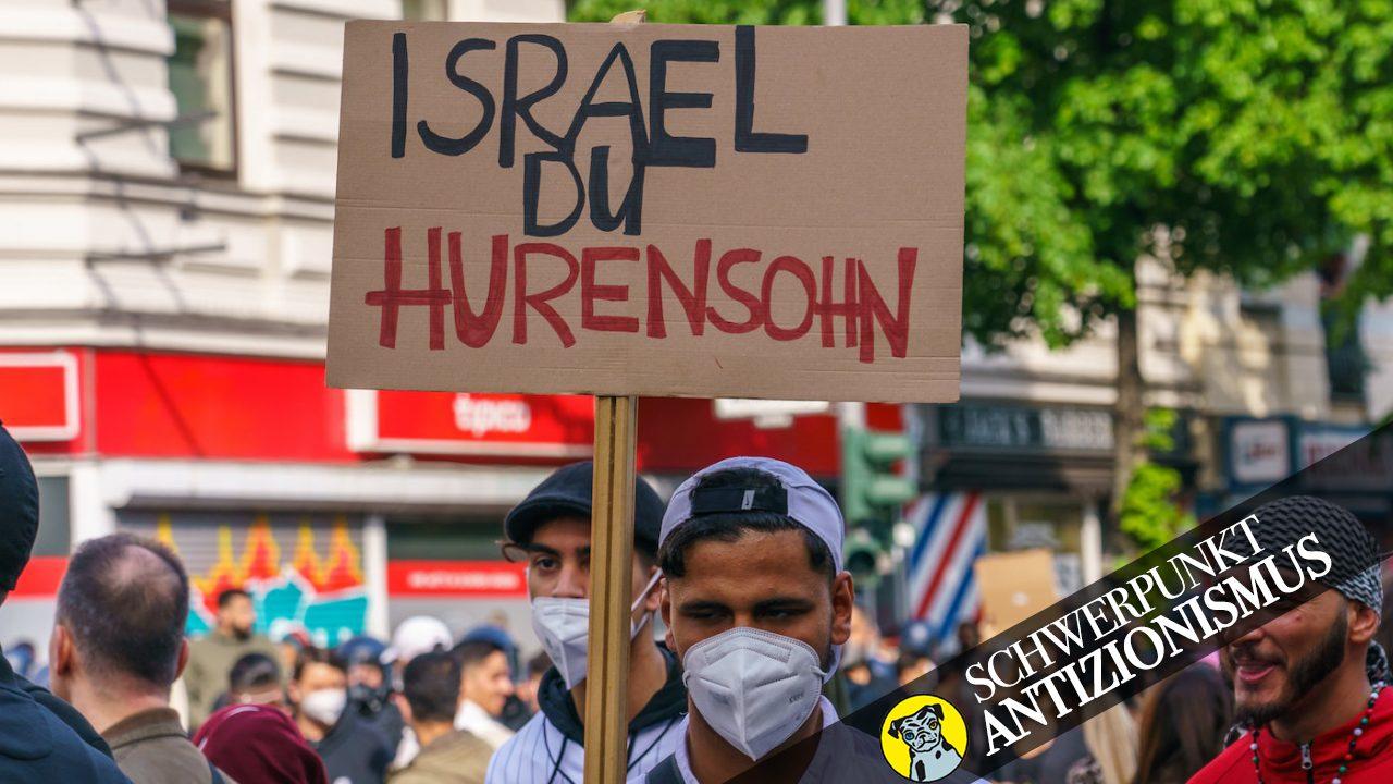 """Am 15. Mai 2021, zum """"Nakba Tag"""" kam es in ganz Deutschland, hier in Berlin, zu israelfeindlichen und antisemitischen Demonstrationen."""
