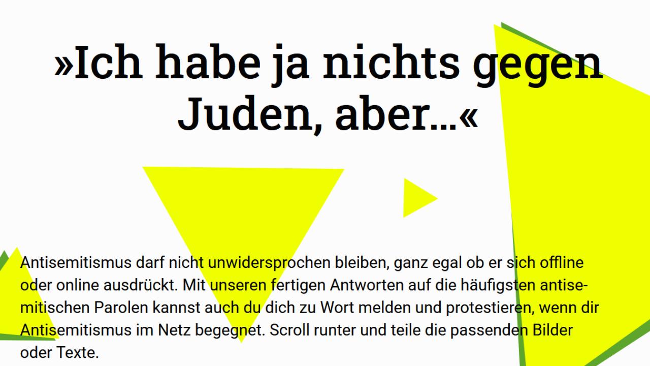 Nichts gegen Juden.« – Online-Tool gegen Antisemitismus
