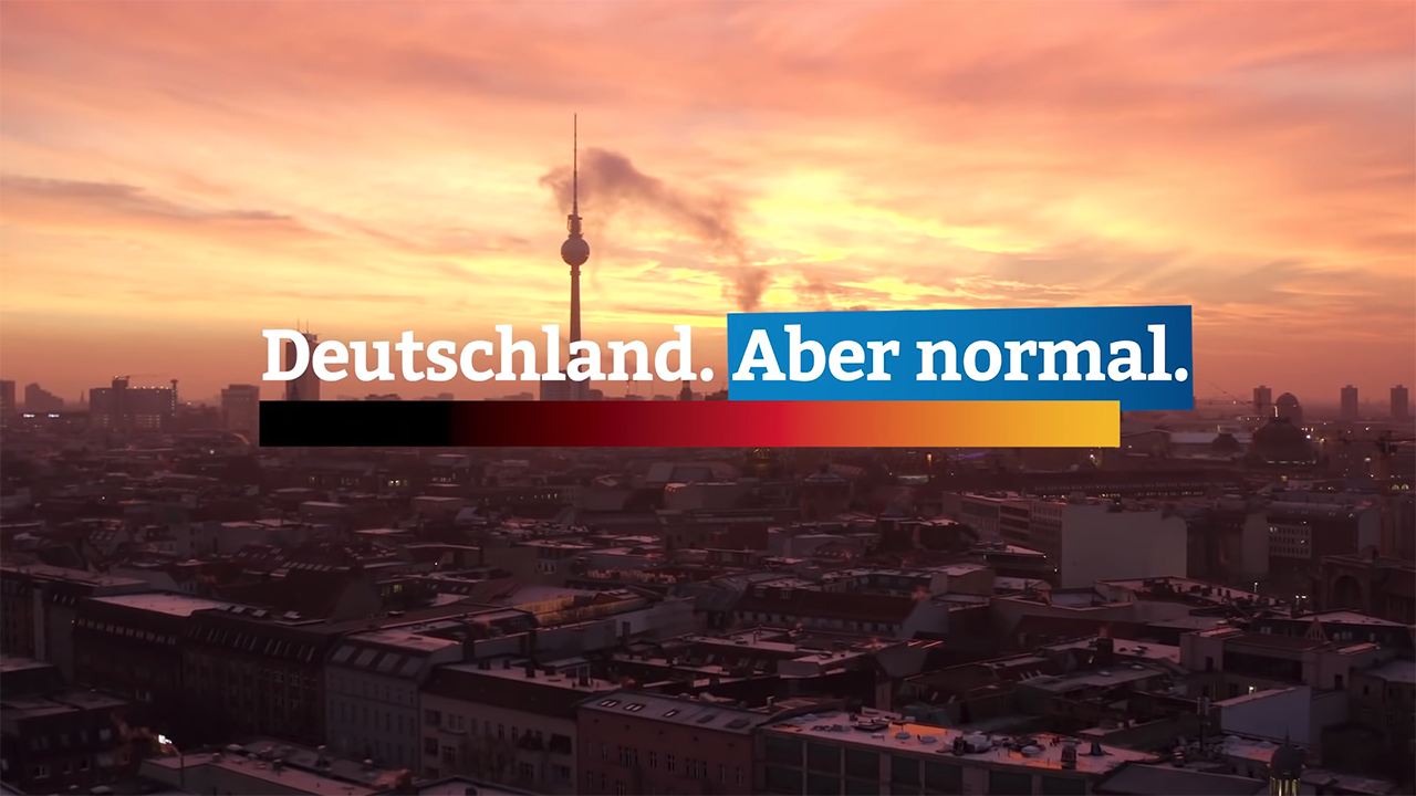 """Der Wahlslogan der AfD: """"Deutschland. Aber normal."""""""