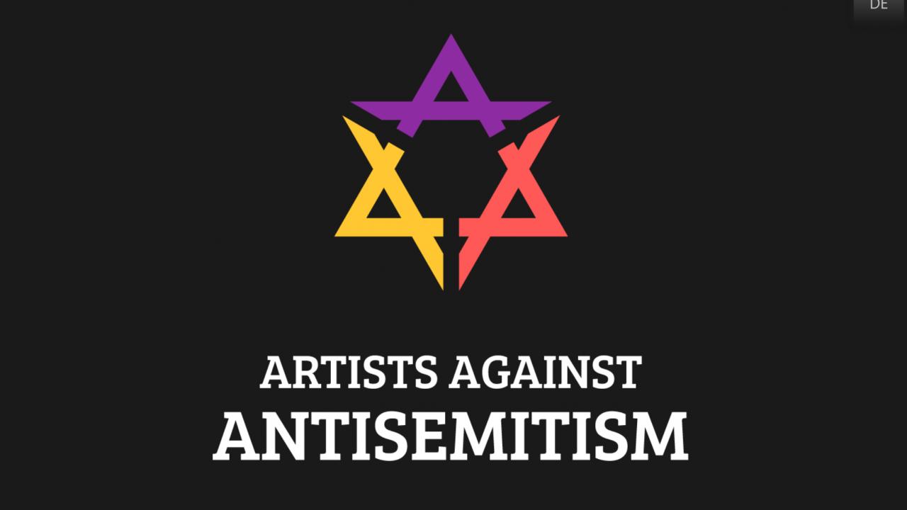 Screenshot der Website Artists Against Antisemitism