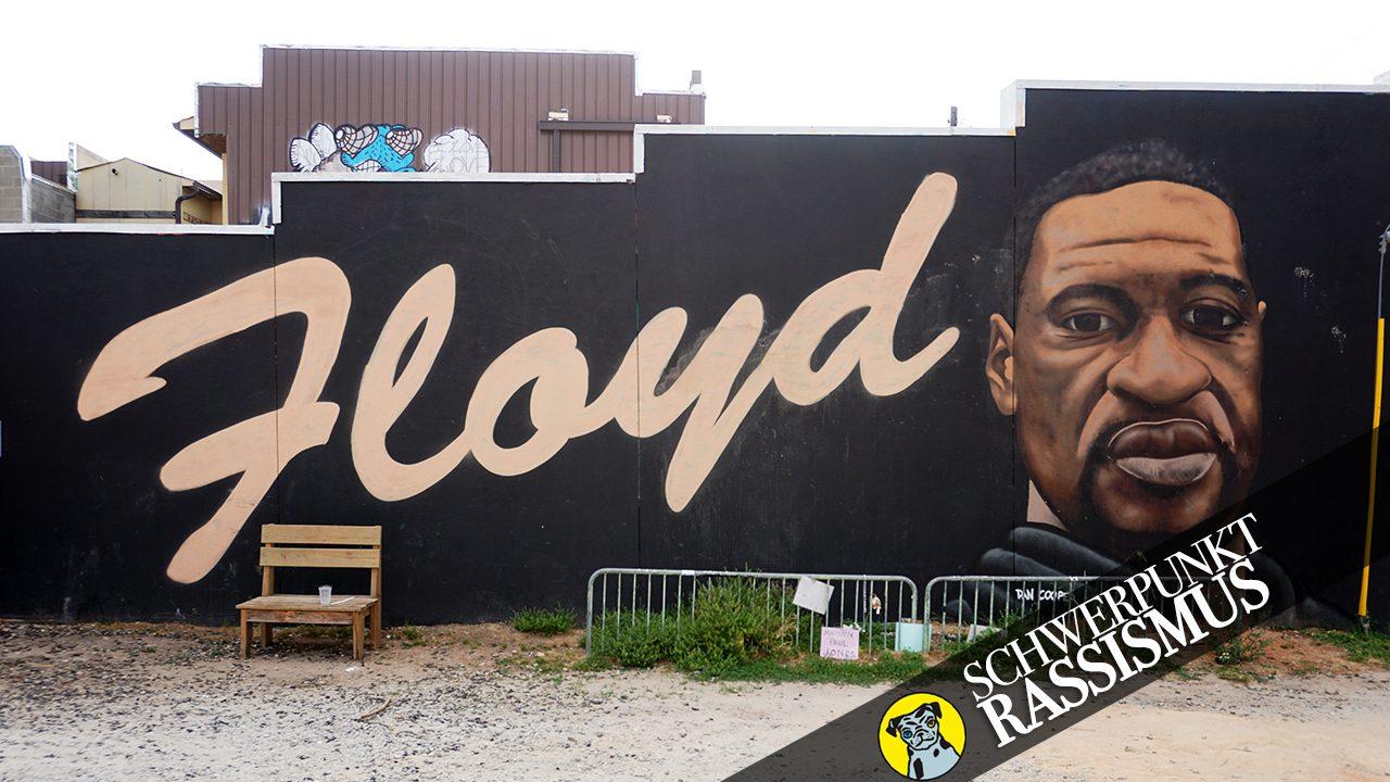 Ein Wandbild zum Gedenken an George Floyd in Atlanta, Georgia