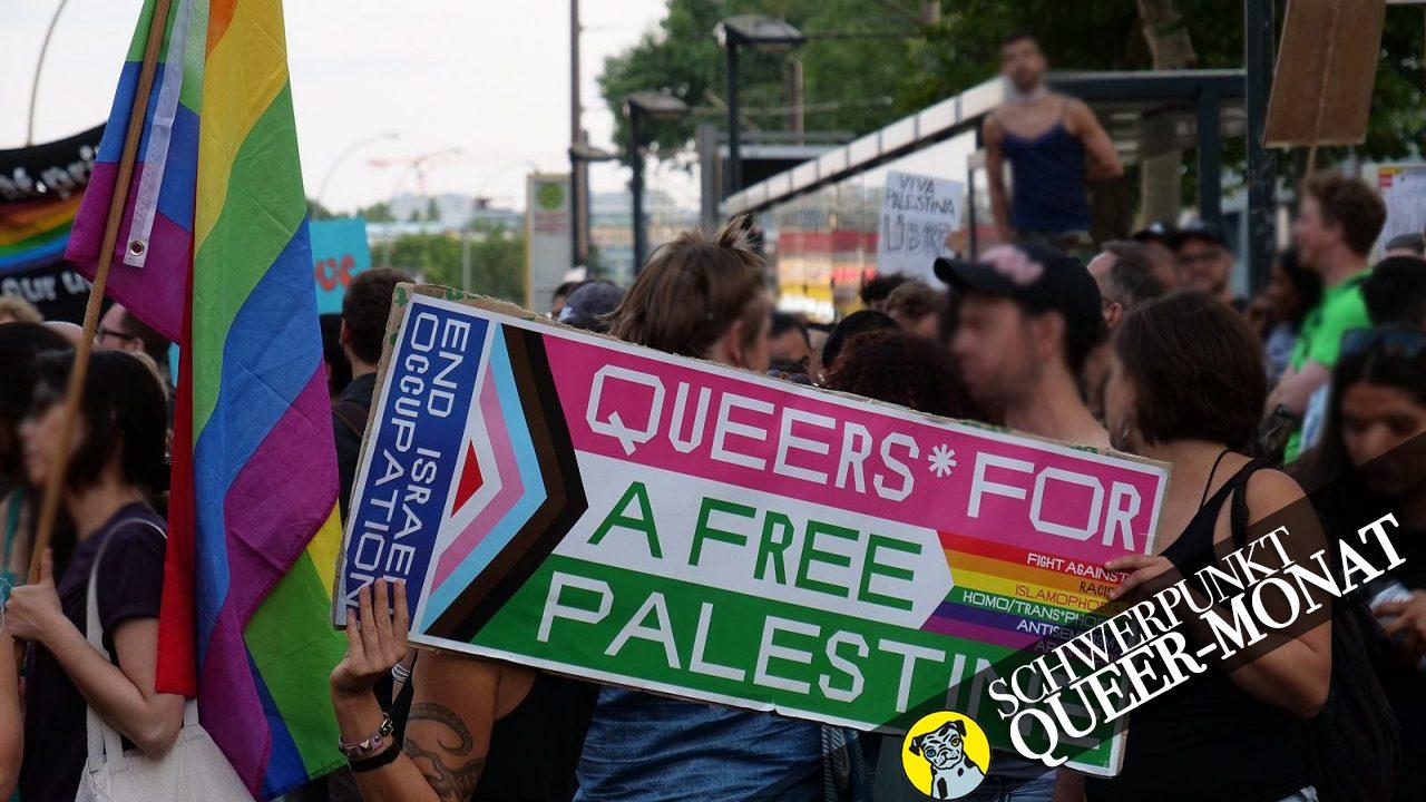 Radical Queer March Berlin 2019: Der Block der BDS Kampagne wird von der eigentlichen Demo missbilligt