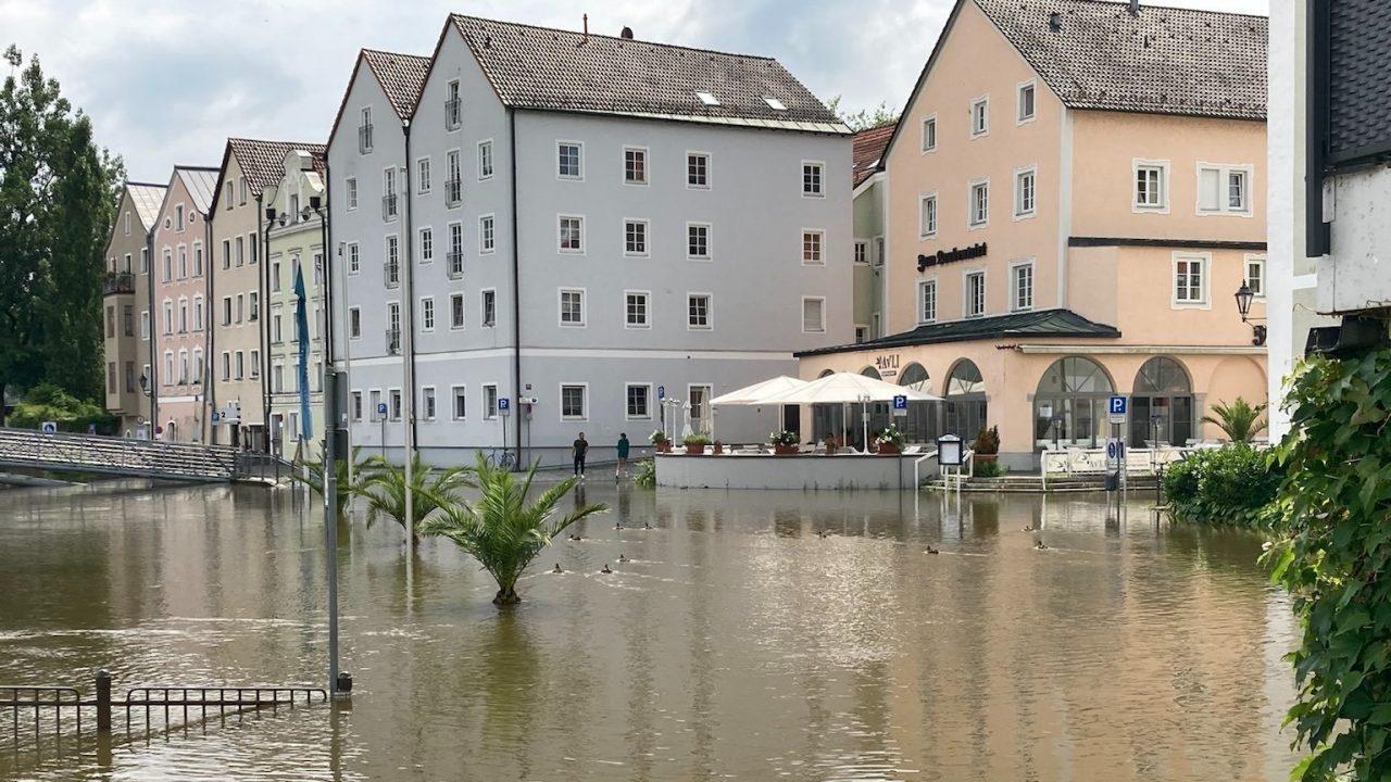 Auch in Passau steigt der Wasserpegel
