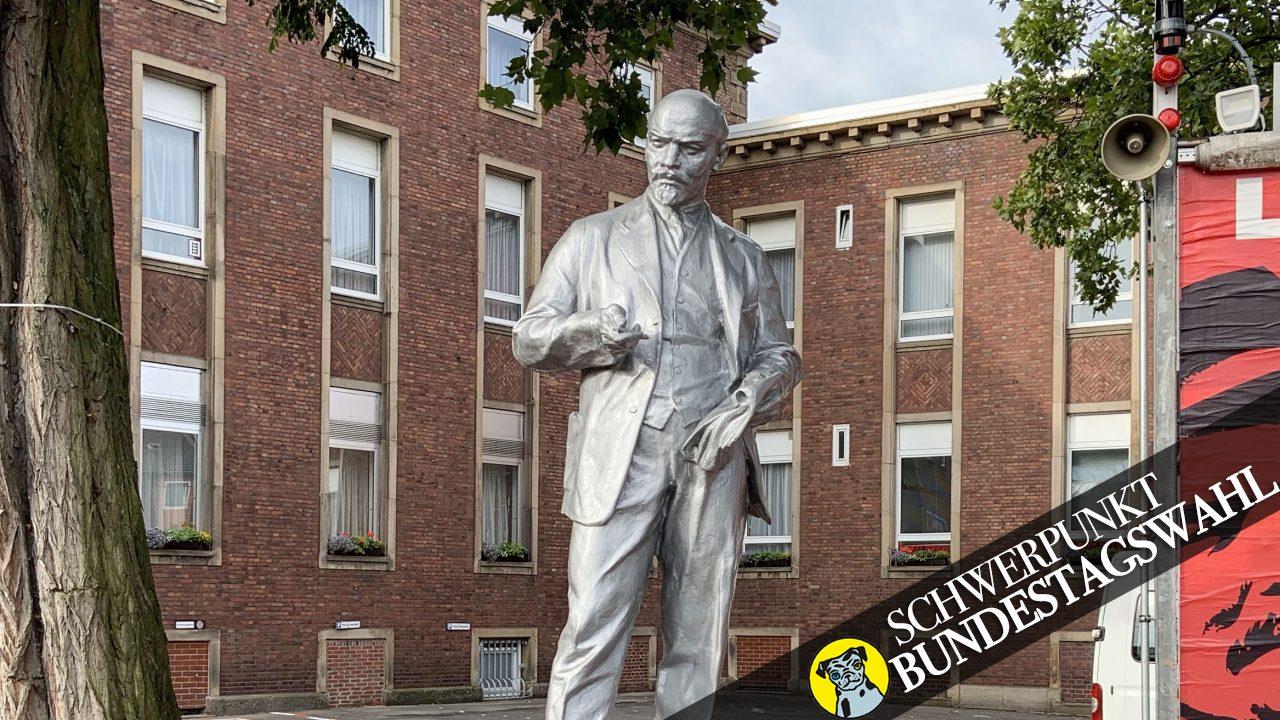 Im Juni 2020 errichtete die MLPD eine Lenin-Statue vor der Parteizentrale in Gelsenkirchen.