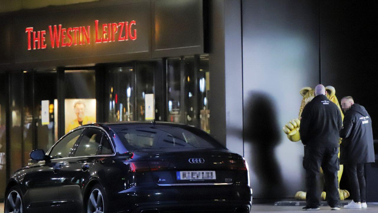 """Vor dem Westin Hotel: Die Sicherheitsfirma """"Pro GSL Security"""""""