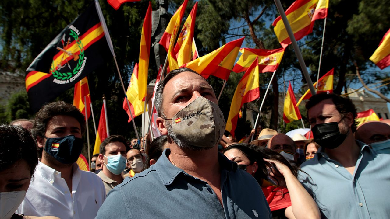 Santiago Abascal, head of the far-right Vox party in Spain